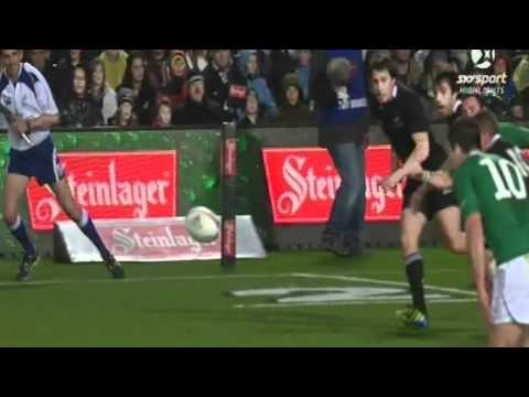 All Blacks v Ireland try scoring highlights - Hamilton 23 June 2012 | PopScreen