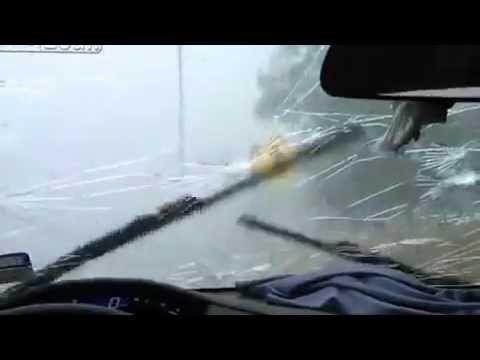 Dallas Hail Storm - Honda Civic Under Egg Sized Hail Attack | PopScreen