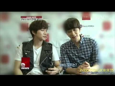 [Cut] 120702 2PM & Miss A - Touch Korea @ TvN Enews World | PopScreen