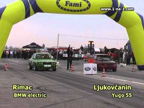World fastest Yugo vs World fastest electric car | PopScreen