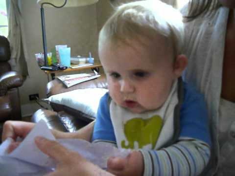 """laughing baby tearing paper Well, we some bad news for """"babies laughing at tearing paper"""" and """"babies  afraid of sneezes,"""" and their names are maddie and scarlett."""