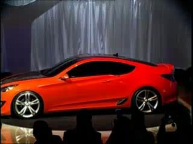 The Hyundai Genesis Coupe Car at L.A. Auto Show | PopScreen