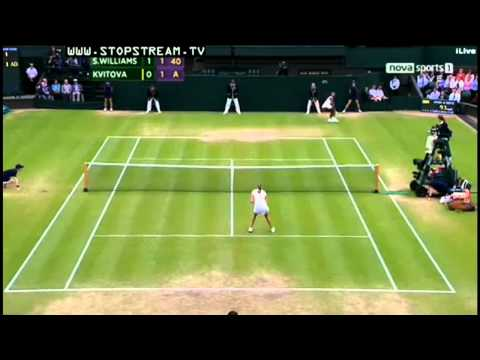 Petra Kvitova - Amazing forehand winner vs S. Williams | PopScreen
