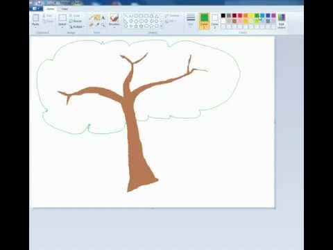 How to draw a Tree - Using just a mouse and Microsoft Paint | PopScreen
