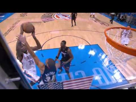 Kevin Durant sick facial dunk on Shane Battier (June 14, 2012) | PopScreen