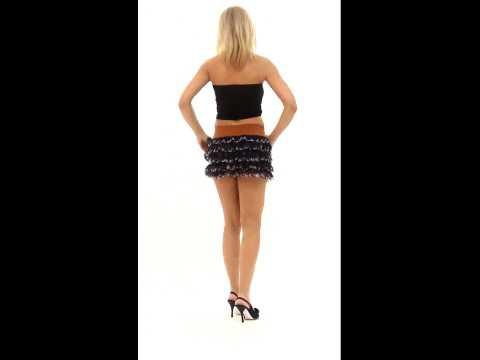 Minigonna trendy a balze da donna (Cod.Art. 001003) | PopScreen