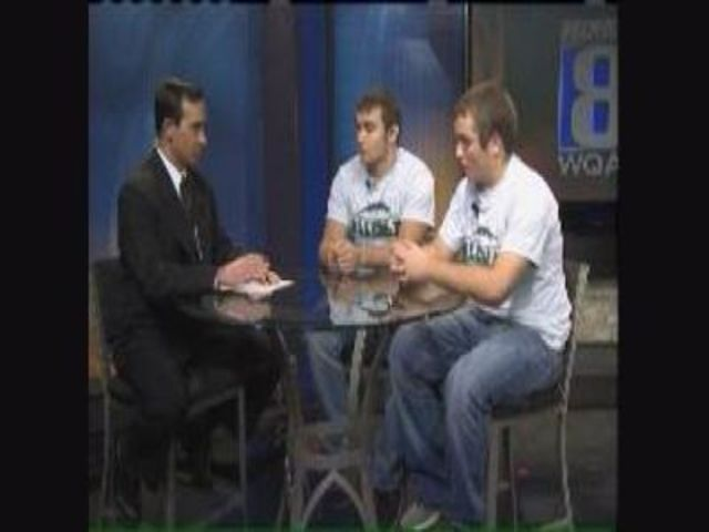QCSX Kory Talks With Alleman Football Players