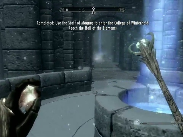 how to close the eye of magnus skyrim