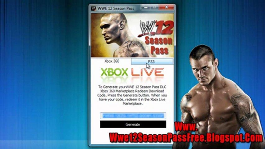 Get Free WWE 12 Season Pass Code - Xbox 360 / PS3   PopScreen