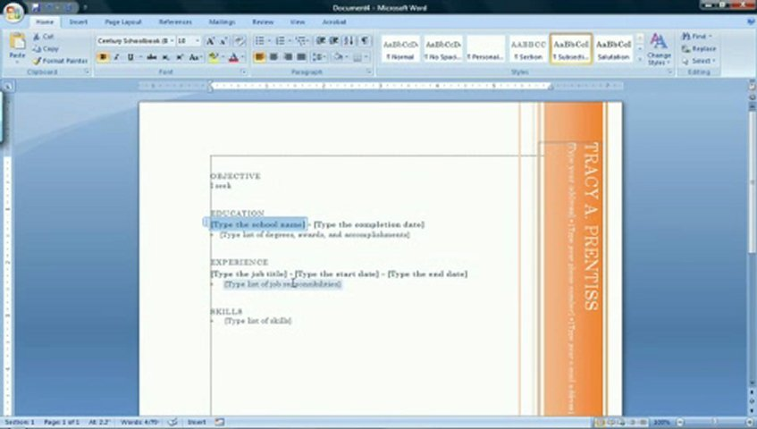 Resume ...  How To Create Resume In Word