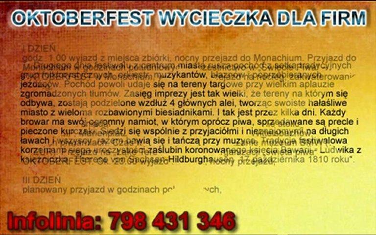 WYCIECZKI DLA FIRM - OKTOBERFEST - www.wyjazdygrupowe.eu | PopScreen