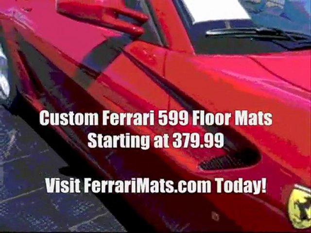 ad ferrari mats ferrari 599 custom floor mats popscreen. Black Bedroom Furniture Sets. Home Design Ideas