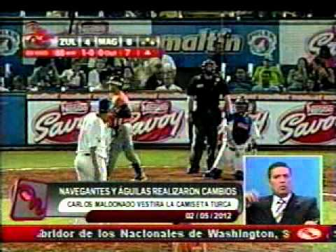Cambio entre Navegantes del Magallanes y Aguilas del Zulia, temporada 2012-2013 | PopScreen