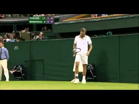 Roger Federer vs Julien Benneteau Wimbledon 2012 3rd Round Match Last Game Point | PopScreen