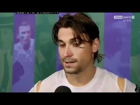 David Ferrer Interview After Winning Against Juan Martin del Potro - Wimbledon 2012 | PopScreen