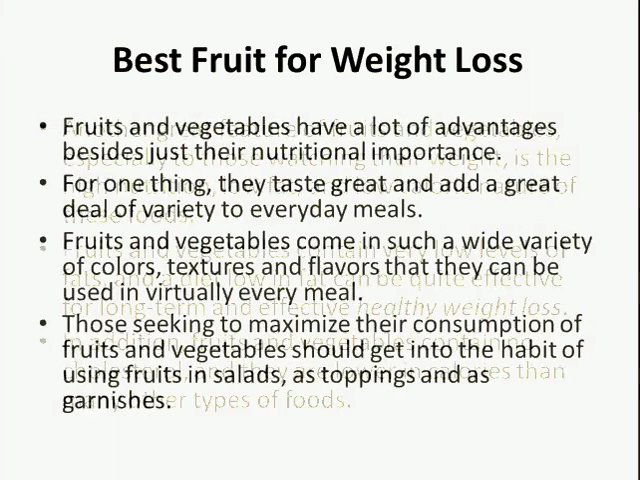 Best Fruit for Diet and Weight Loss | Healthy Ways to Lose Weight ...