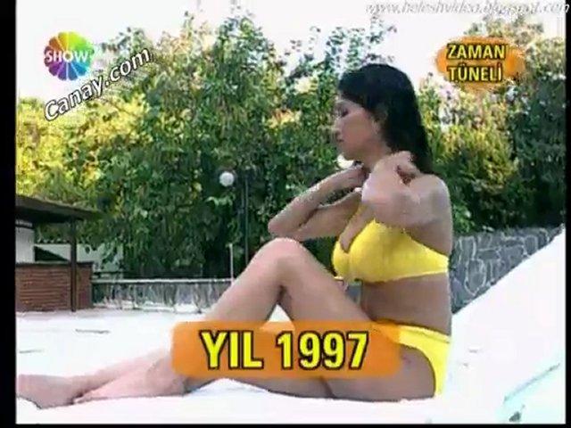 nadide sultan iri memeleri sarı bikini | PopScreen