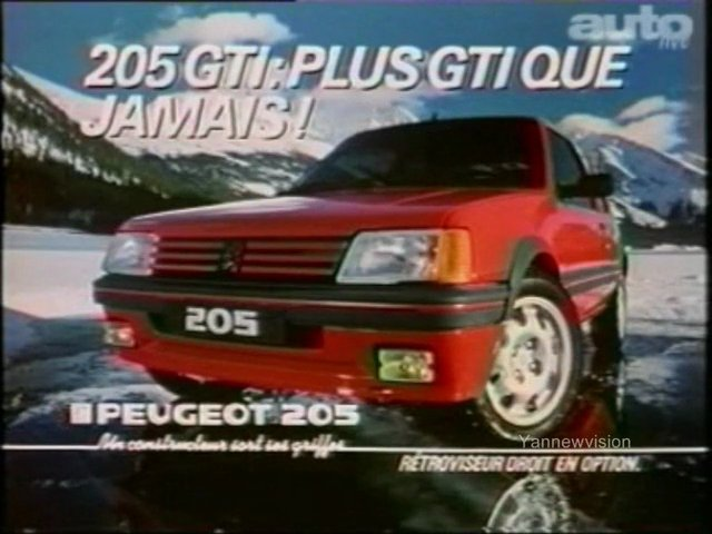 publicit peugeot 205 gti plus gti que jamais 1983 popscreen. Black Bedroom Furniture Sets. Home Design Ideas