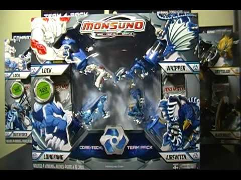 Opening a Monsuno Toy Figure 4-pack with Red Diamond Elemental Lock | PopScreen