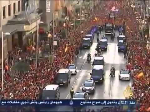Spain euro2012 celebration!! in madrid | PopScreen