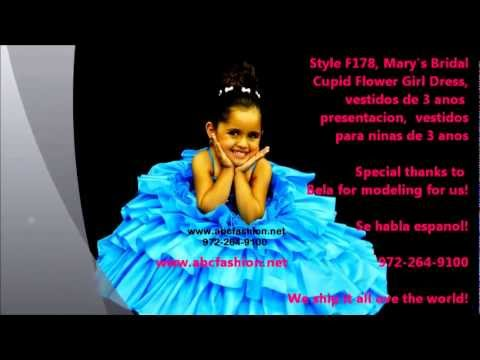 F178 Mary's Bridal Flower Girl Dress, Vestidos para ninas de 3 ...