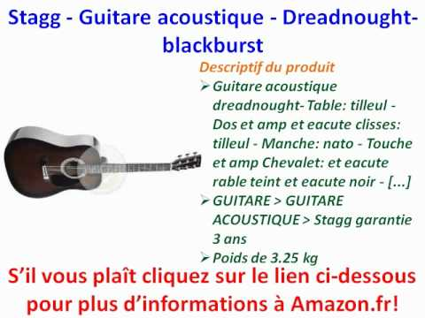 Stagg - Guitare acoustique - Dreadnought-blackburst | PopScreen