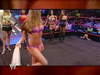 wwe diva lingerie contest melina candice maria christy stacy | PopScreen