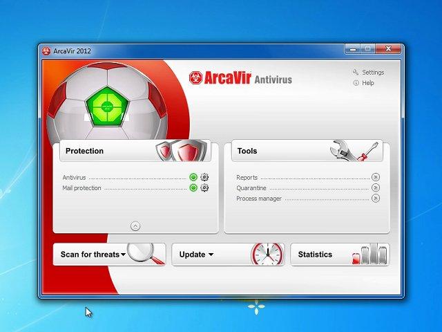 Windows 7 ArcaVir Antivirus 2013 full