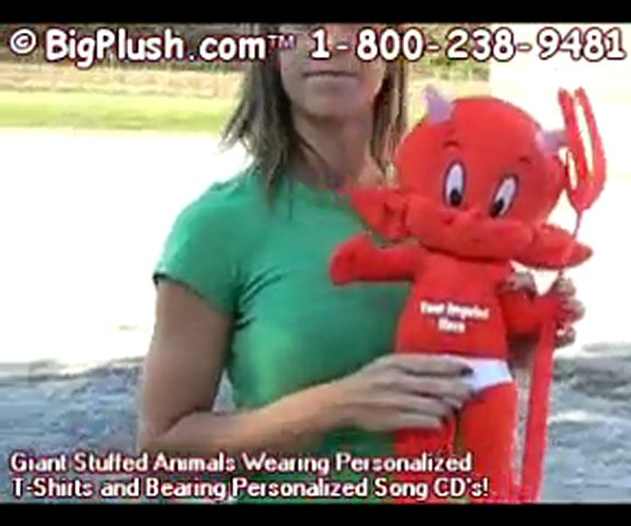 BigPlush.com PERSONALIZED STUFFED DEVIL VALENTINE VALENTINE | PopScreen