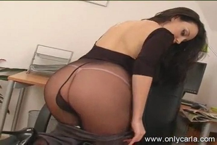 Black Thong And Pantyhose