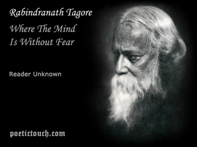 where the mind is without fear essay In where the mind is without fear (also known as gitanjali 35), tagore imagines a place wherein people are allowed to thrive, free from the yoke of fear and stratification.