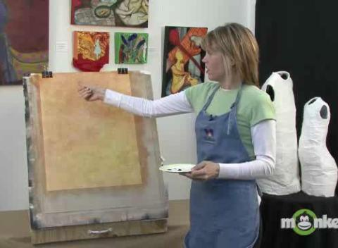Learn how to paint with acrylics spattering texture for Learn to paint with acrylics