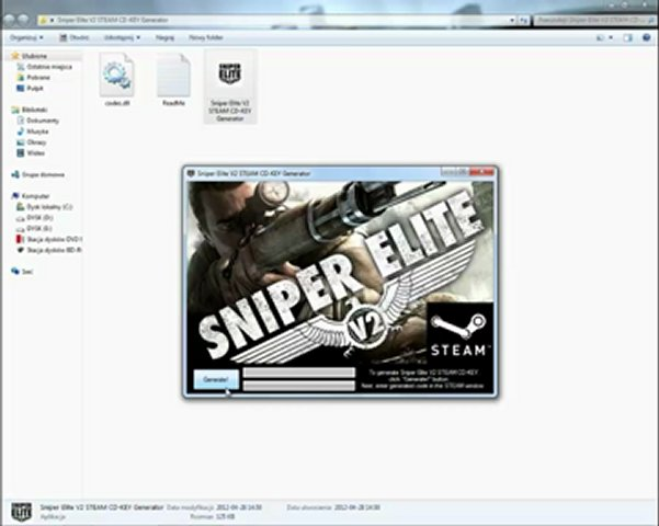 Sniper Elite V2 STEAM Product Code Generator | PopScreen