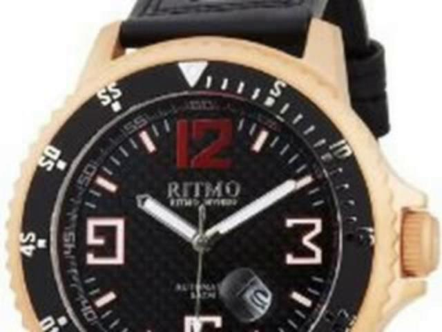 Ritmo Mundo Men's 313 RG Carbon Hercules Titanium Automatic Black Dial Watch | PopScreen