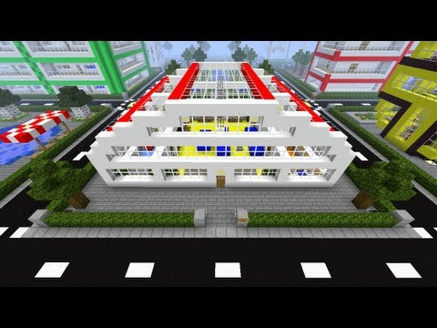 Minecraft tutorial of how to build a modern house number for Modern house 6 part 2