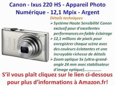 Canon - Ixus 220 HS - Appareil Photo Numérique - 12,1 Mpix - Argent | PopScreen
