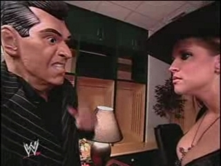 Eric Bischoff & Stephanie McMahon kiss on Smackdown! | PopScreen