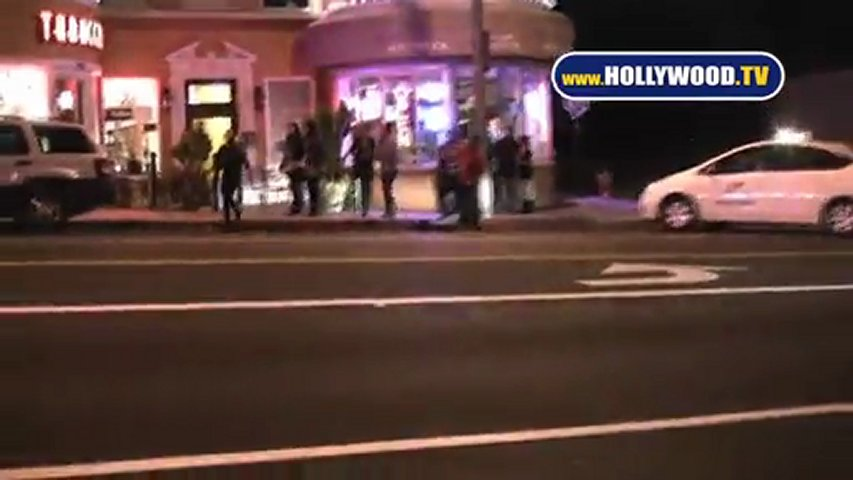 Sunset Blvd Hit and Run Accident Scene