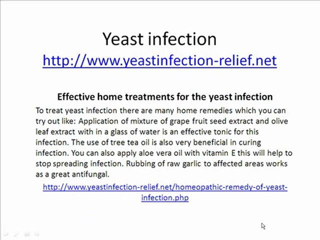 from Trevor anal yeast infection cure