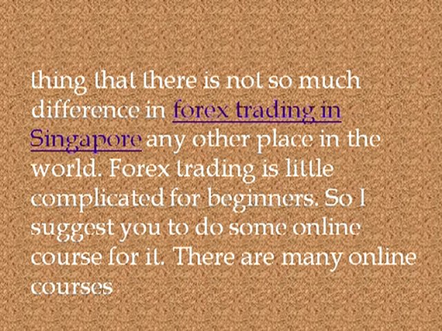 Forex account in singapore