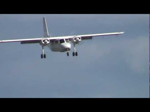 Britten-Norman Islander Taxi, Takeoff, and Landing Essendon Airport VH-CWG | PopScreen