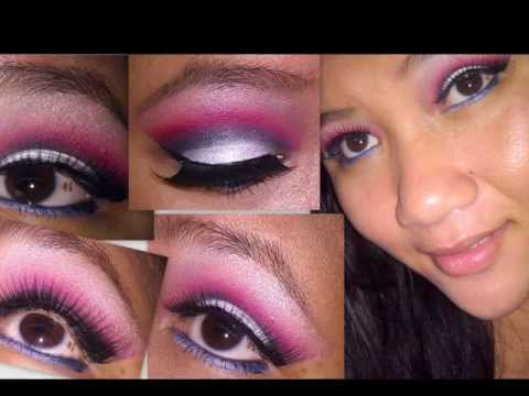 Makeup on Red White And Blue Smokey Eye Makeup Tutorial   Fourth Of July