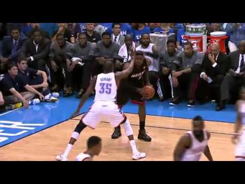 LeBron scores 32 points ,8 boards and dishes five assists  | 14th June 2012 | Heat @ Thunder | PopScreen