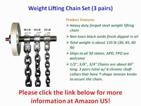 Weight Lifting Chain Set (3 pairs) | PopScreen