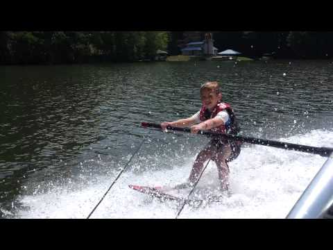 Day 2 of Parker Jax water skiing on Austin Lake in Toronto, Ohio on June 15, 2012. | PopScreen