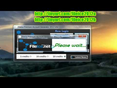 FileIce Premium Account Generator 2012 1 0v FileIce Net Free Credits