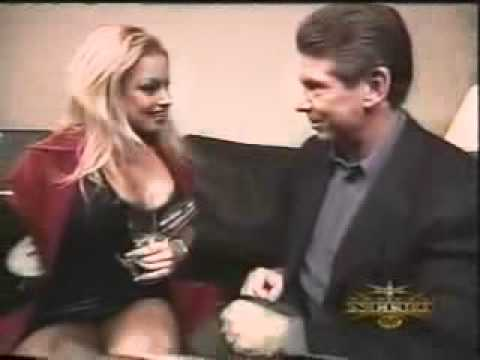 Vince McMahon & Trish Stratus backstage Kissing | PopScreen