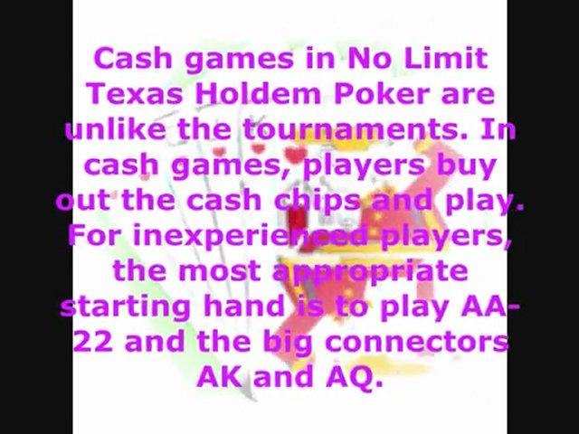 Limit texas holdem rules