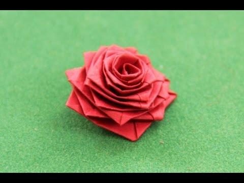 смотреть как сделать розу из бумаги