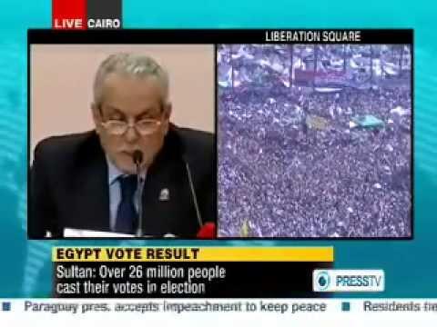 Morsi announced as President of Egypt اللجنة للانتخابات تعلن فوز مرسي | PopScreen